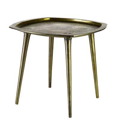 Arredamento - Tavolini  - Tavolino Square / Fatto a mano - Ottone invecchiato - 46 x 46 cm - Pols Potten - Laiton vieilli - Fonte d'aluminium finition laiton vieilli