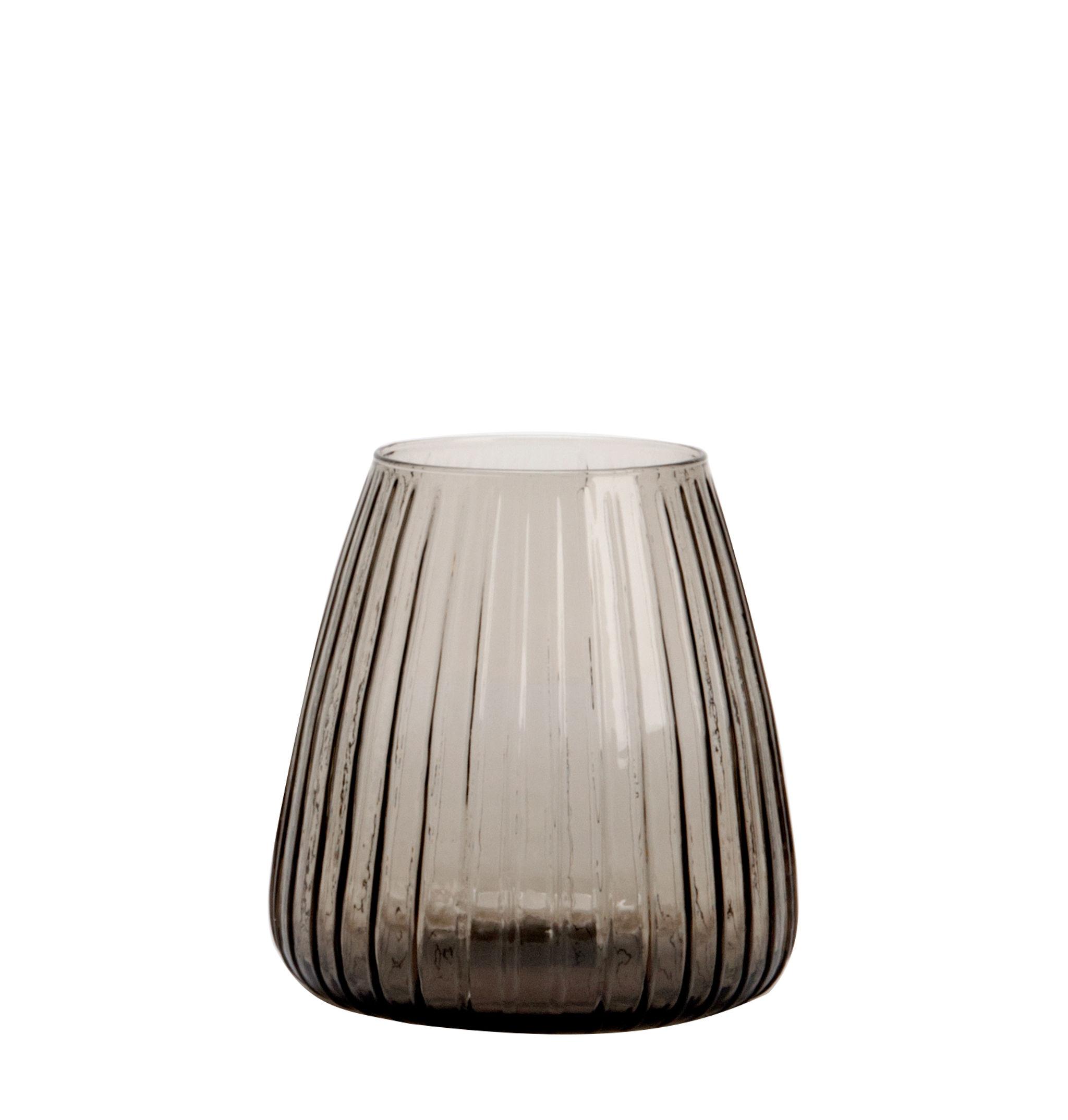 Déco - Vases - Vase Dim / Vase - Ø 15 x H 16 cm - XL Boom - Small / Rayé - Verre soufflé bouche