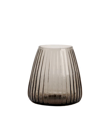Decoration - Vases - Dim Vase - / Vase - Ø 15 x H 16 cm by XL Boom - Small / Striped - Mouth blown glass