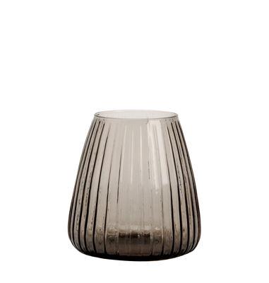 Interni - Vasi - Vaso Dim - / Vaso - Ø 15 x H 16 cm di XL Boom - Small / A righe - Vetro soffiato a bocca