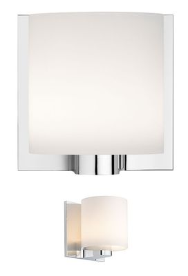 Lighting - Wall Lights - Tilee Wall light by Flos - White / Chrome - Glass, Zamak