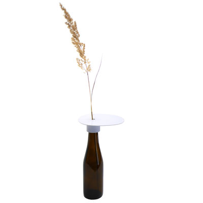 Decoration - Vases - Beer & Add'on Accessory - / For transforming a beer bottle into a single-stem vase by Aequo Design - White - Biodegradable plastic