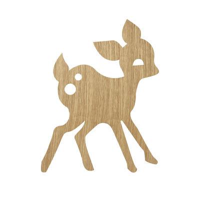 Interni - Per bambini - Applique con presa My Deer - / Rovere di Ferm Living - Rovere chiaro - Impiallacciatura di rovere