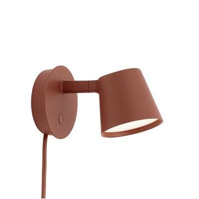 Illuminazione - Lampade da parete - Applique con presa Tip LED - / Orientabile - Variatore di Muuto - Marrone ramato - Alluminio