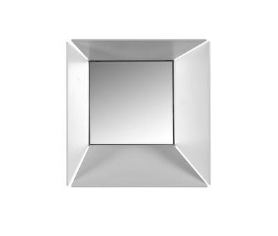 Applique Narciso / Métal & miroir - 18 x 18 cm - Karman blanc mat,miroir en métal
