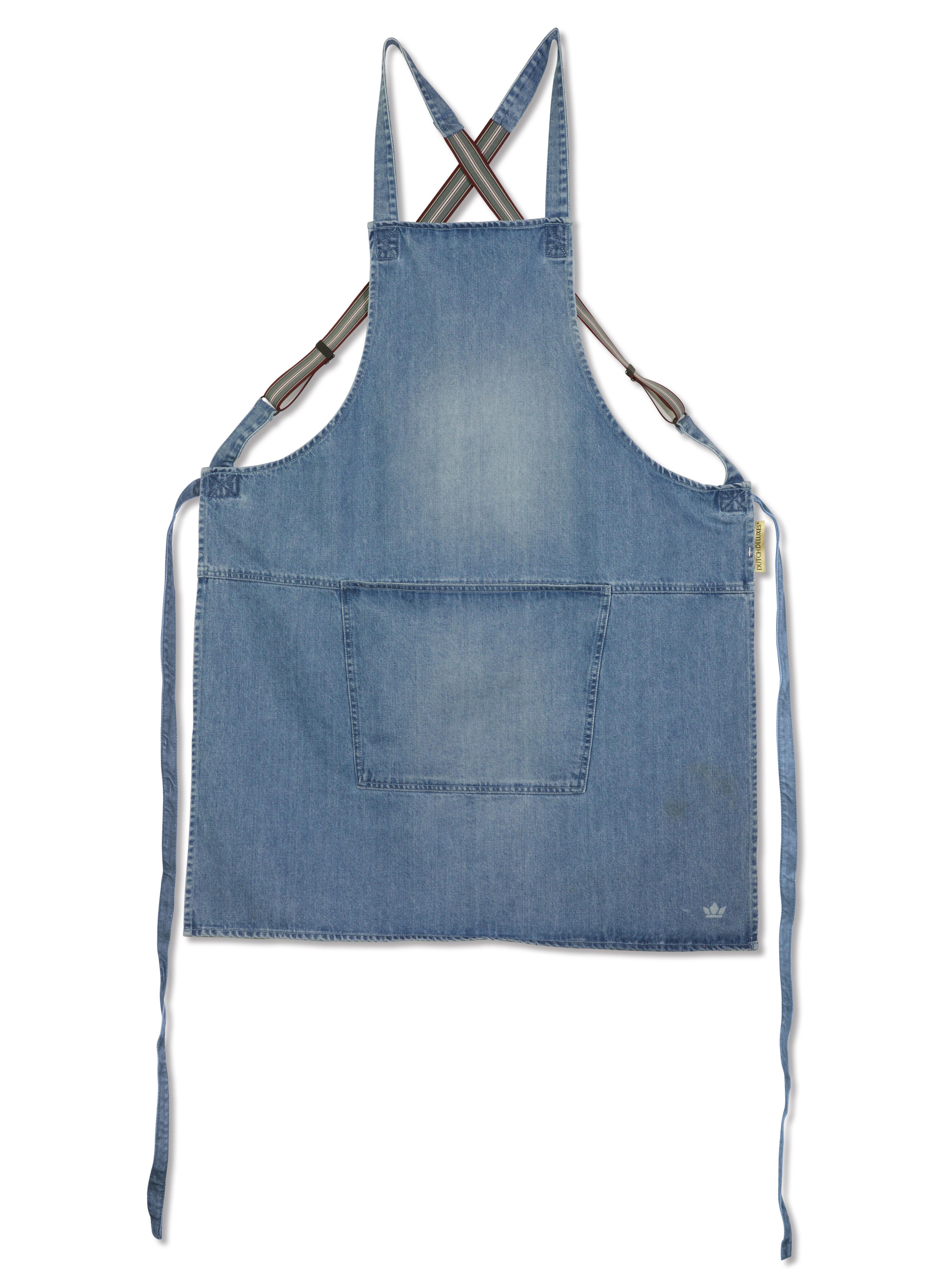 Kitchenware - Tea Towels & Aprons - Apron - denim / Crossed straps by Dutchdeluxes - Light blue - Cotton