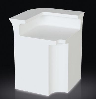Mobilier - Mobilier lumineux - Bar lumineux Break Line / Module d'angle - Slide - Blanc - Polyéthylène