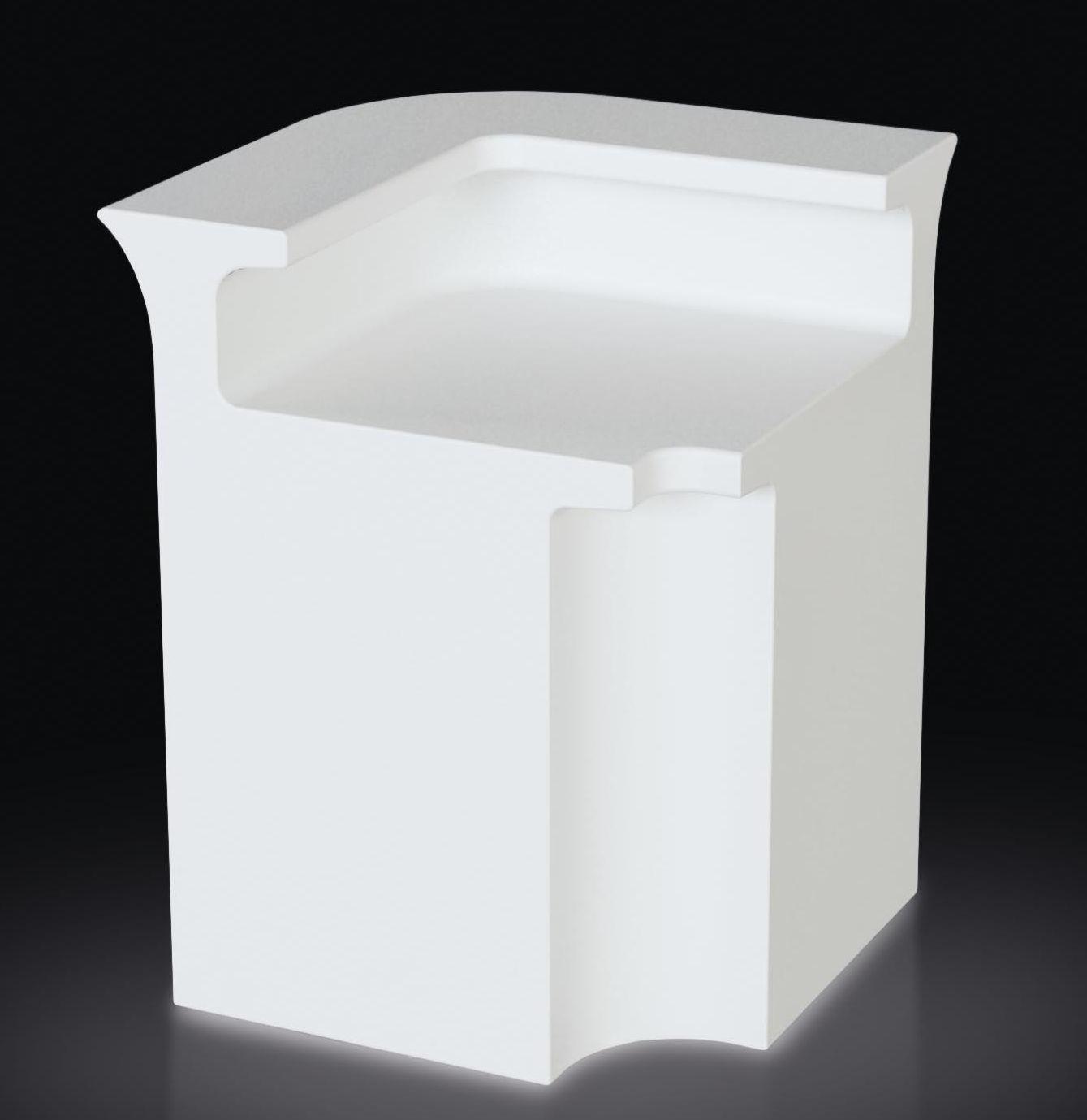 Möbel - Leuchtmöbel - Break Line beleuchtete Bar / Eck-Element - Slide - Weiß - polyéthène recyclable