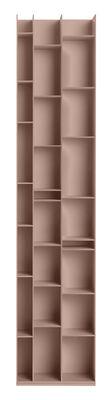 Bibliothèque Random 3C / L 46 x H 217 cm - MDF Italia rose pâle en bois