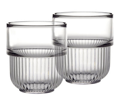 Interni - Bagno  - Bicchiere/bicchierino Kali - lotto da 2 di Authentics - Cristallo - policarbonato