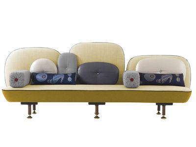 Canapé droit My Beautiful Backside / L 261 cm - Moroso jaune en tissu