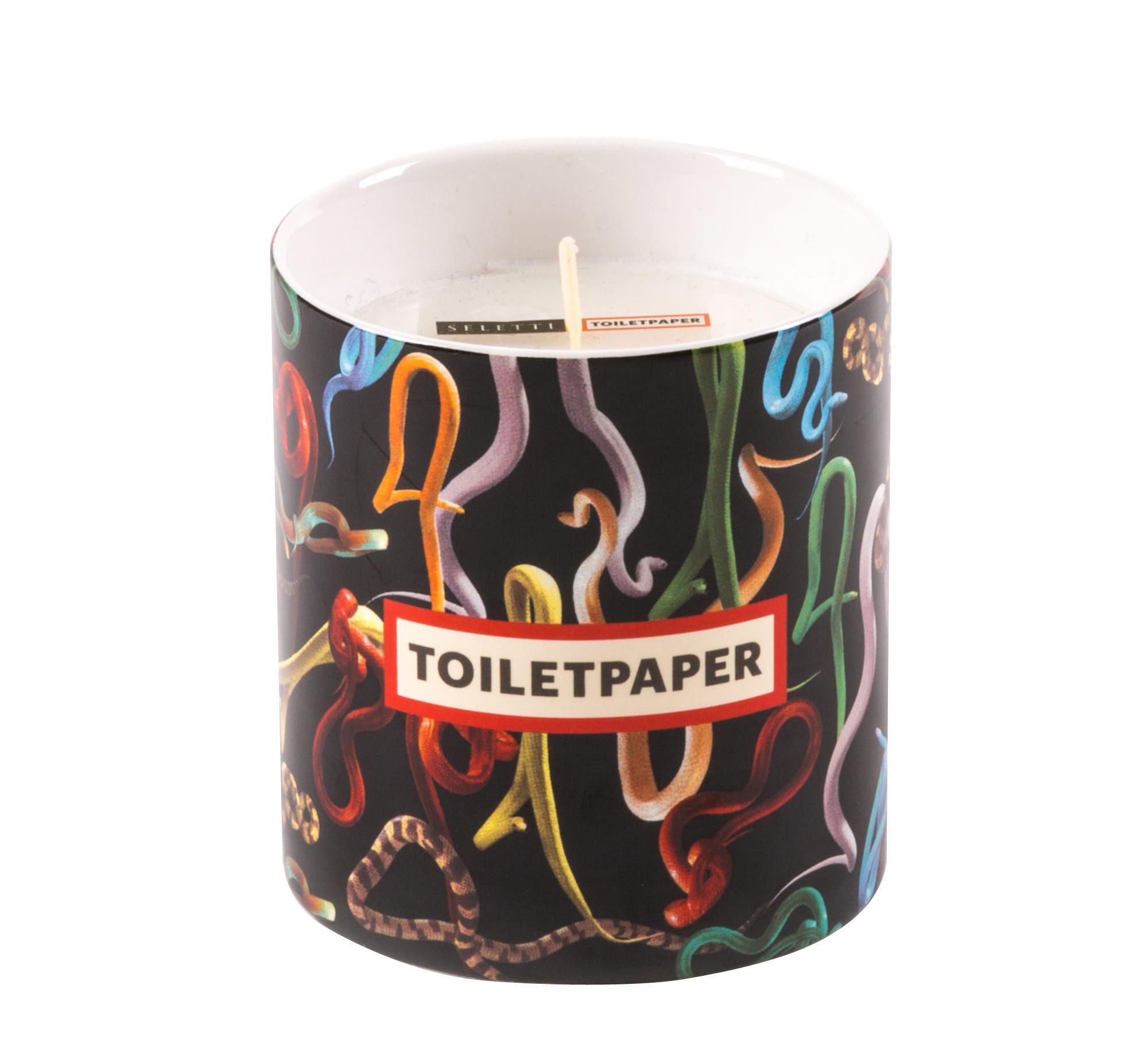 Interni - Candele, Portacandele, Lampade - Candela profumata Toiletpaper - Snakes - / Porcellana di Seletti - Snakes / Nero -  Cire naturelle, Porcellana