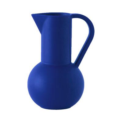 Tableware - Water Carafes & Wine Decanters - Strøm Large Carafe - / H 28 cm - Handmade ceramic by raawii - Horizon blue - Ceramic