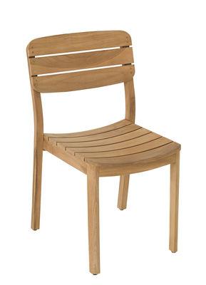 Furniture - Chairs - Lodge Chair - / Teak by Vlaemynck - Teak - Teck non huilé