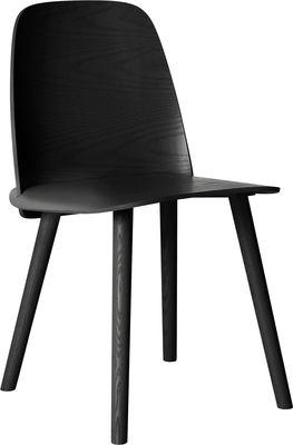 Furniture - Chairs - Nerd Chair - Wood by Muuto - Black - Ashwood