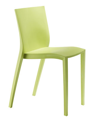 Mobilier - Chaises, fauteuils de salle à manger - Chaise empilable Slick slick by Philippe Starck - XO - Vert anis - Polypropylène