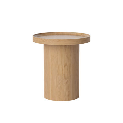 Furniture - Coffee Tables - Plateau Small Coffee table - / Ø 48 x H 52 cm - Removable top by Bolia - Oak - Moulded laminate, Solid oak