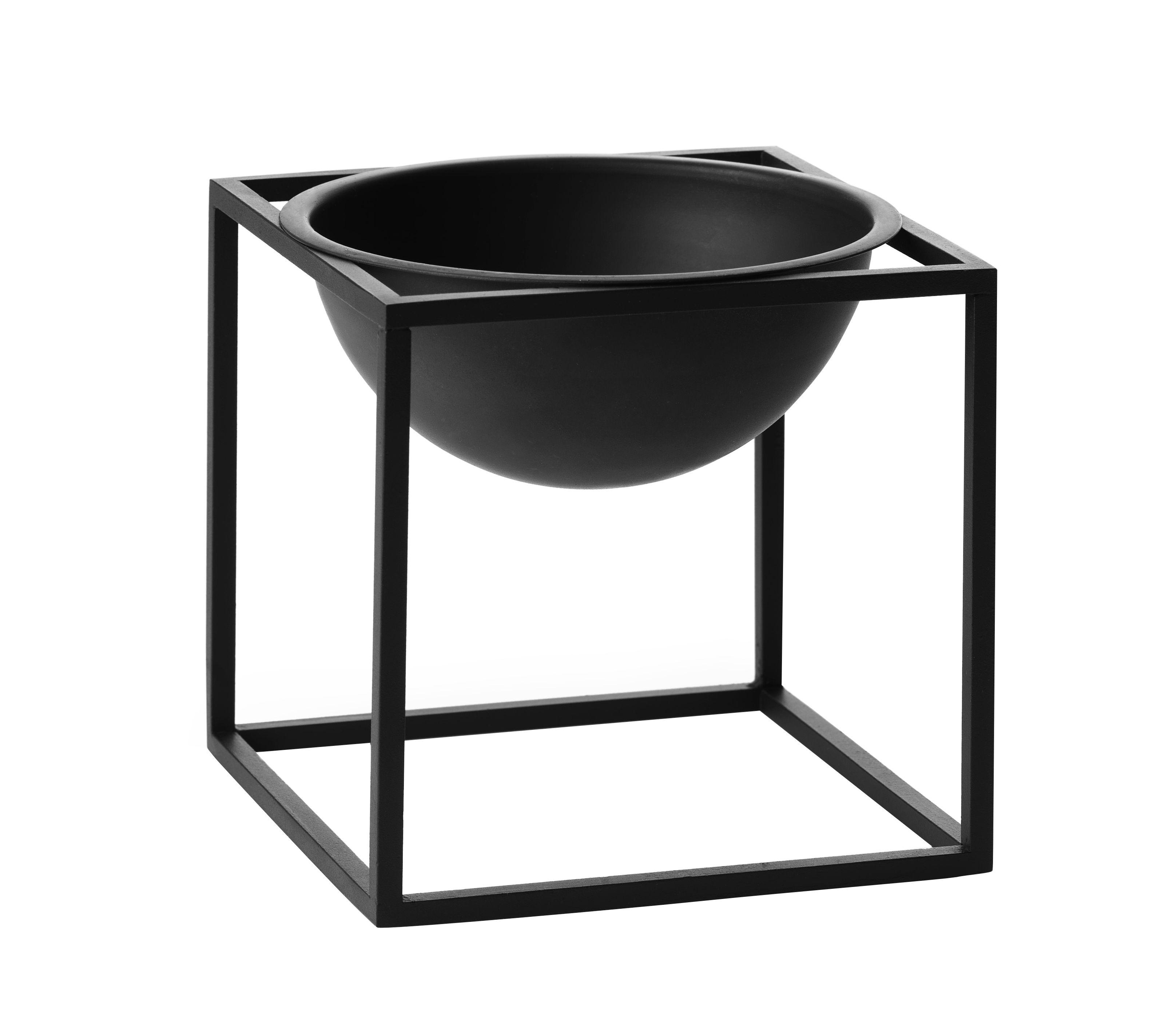 Déco - Corbeilles, centres de table, vide-poches - Coupe Kubus Small / H 14 cm - by Lassen - Noir - Acier laqué