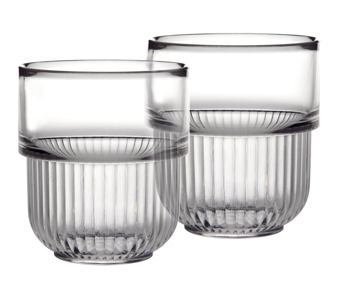 Decoration - For bathroom - Kali Cup - Set of 2 by Authentics - Clear - Polycarbonate