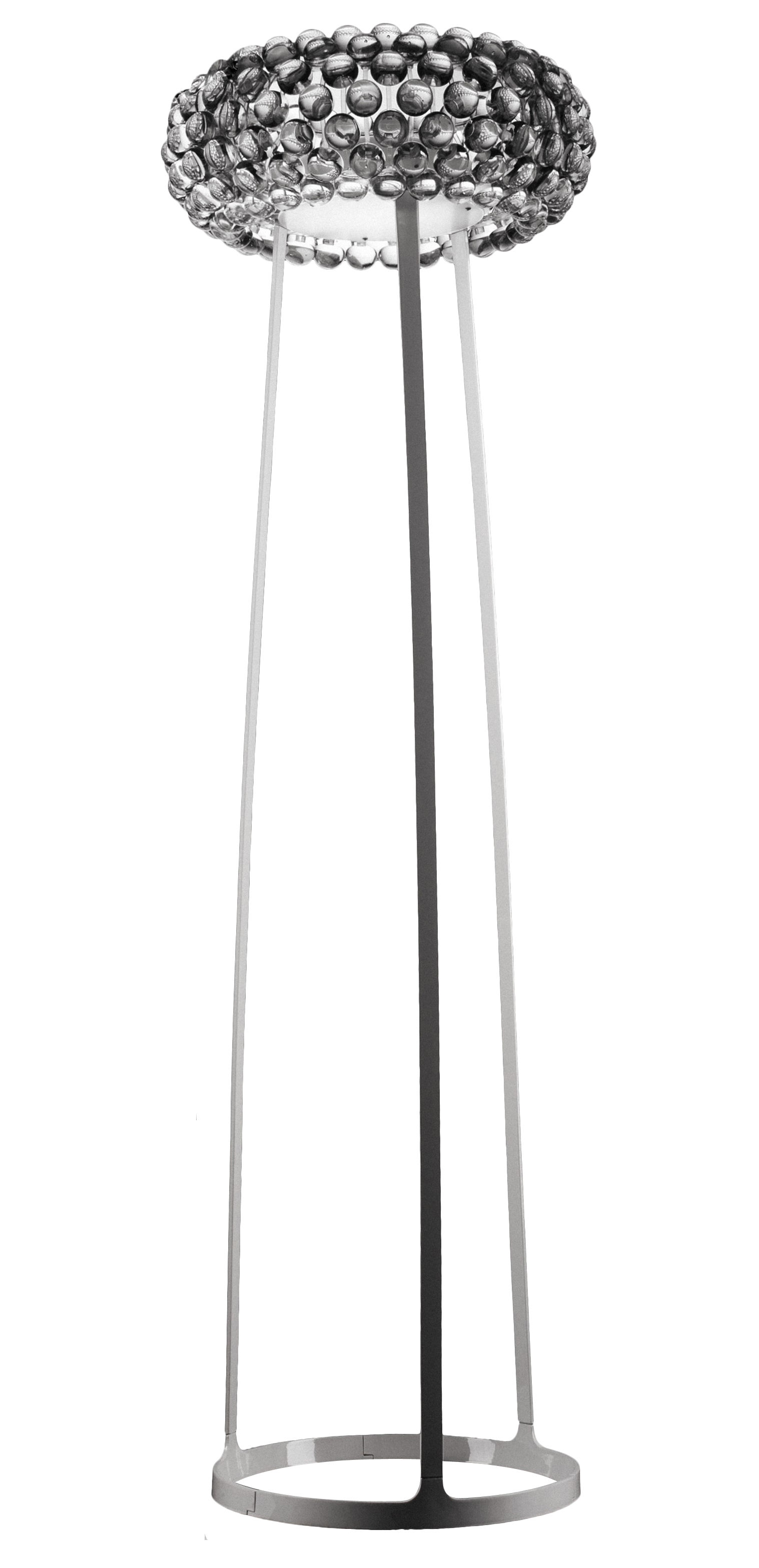 Lighting - Floor lamps - Caboche Media Floor lamp - Media by Foscarini - Clear - White - Metal, PMMA