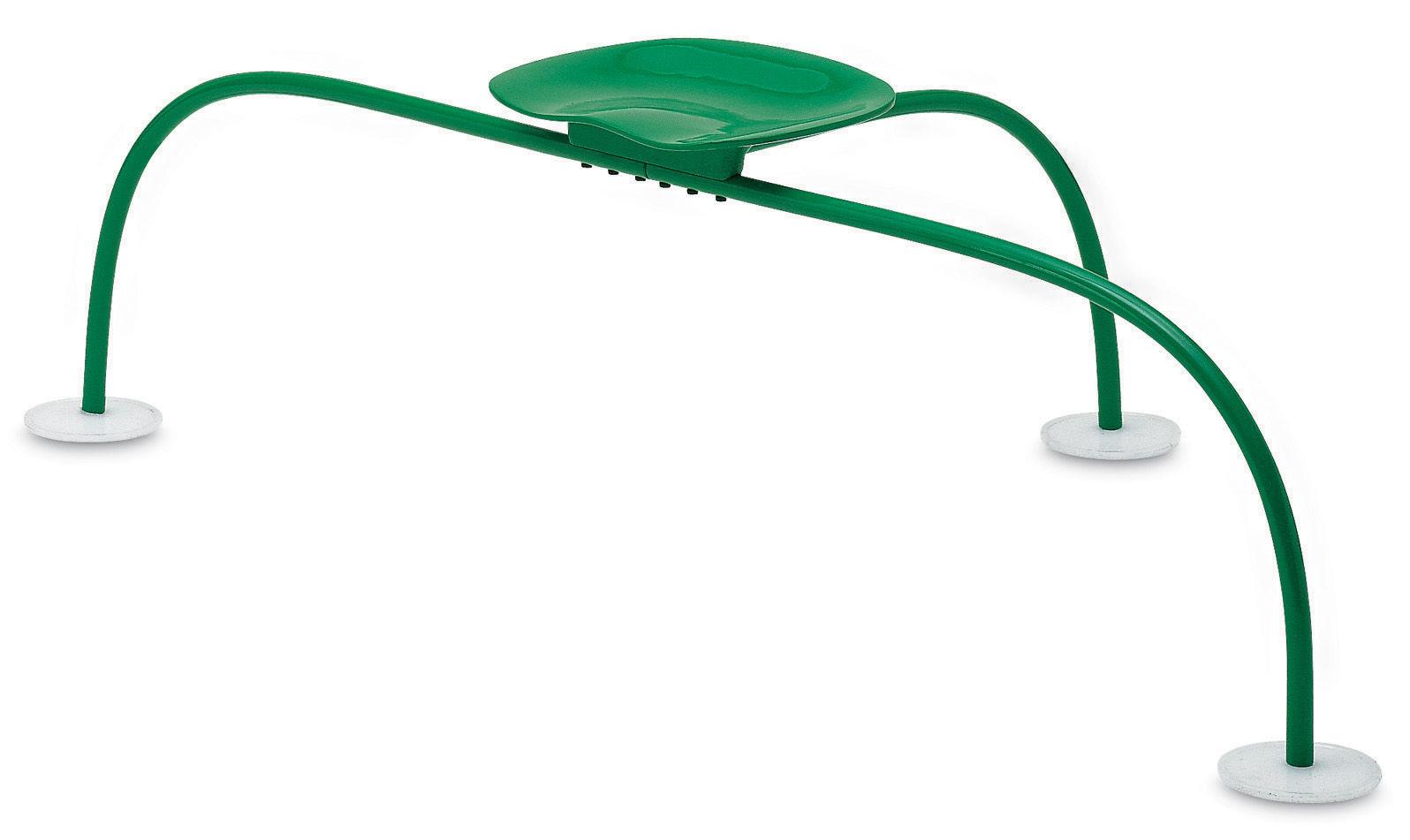 Möbel - Hocker - Allunaggio Hocker / Metall - Zanotta - Wiesengrün - Aluminium, Stahl