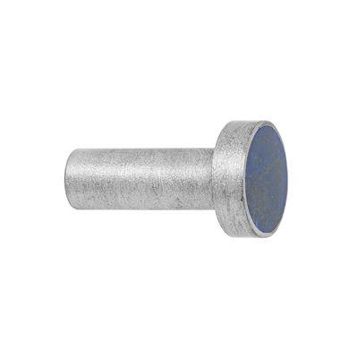 Furniture - Coat Racks & Pegs - Pierre Hook - / Handle - Ø 2 cm by Ferm Living - Blue (Lapis Lazuli)  / Steel - Semi-precious stone, Stainless steel