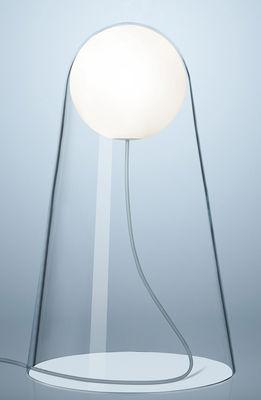 Illuminazione - Lampade da tavolo - Lampada da tavolo Satellight - LED / Vetro soffiato a bocca di Foscarini - Trasparente / Sfera bianca - Vetro soffiato a bocca