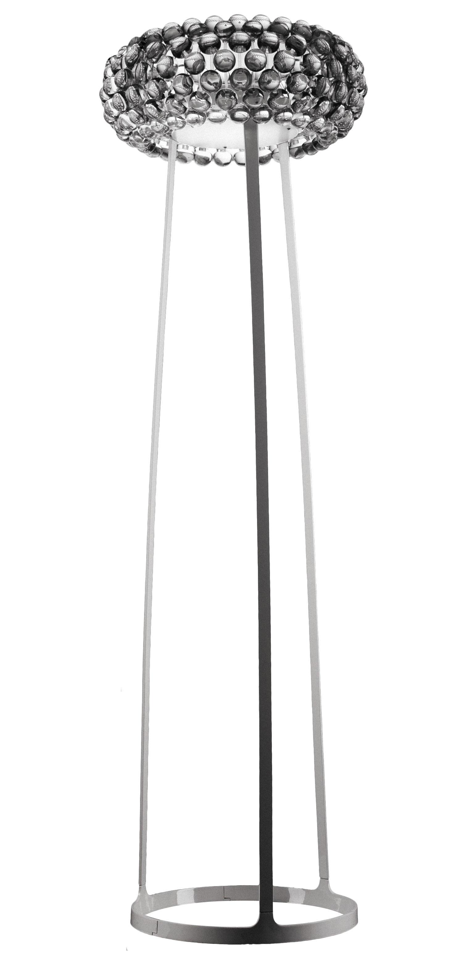 Luminaire - Lampadaires - Lampadaire Caboche Media / H 154 cm - Foscarini - Transparent - Métal, PMMA