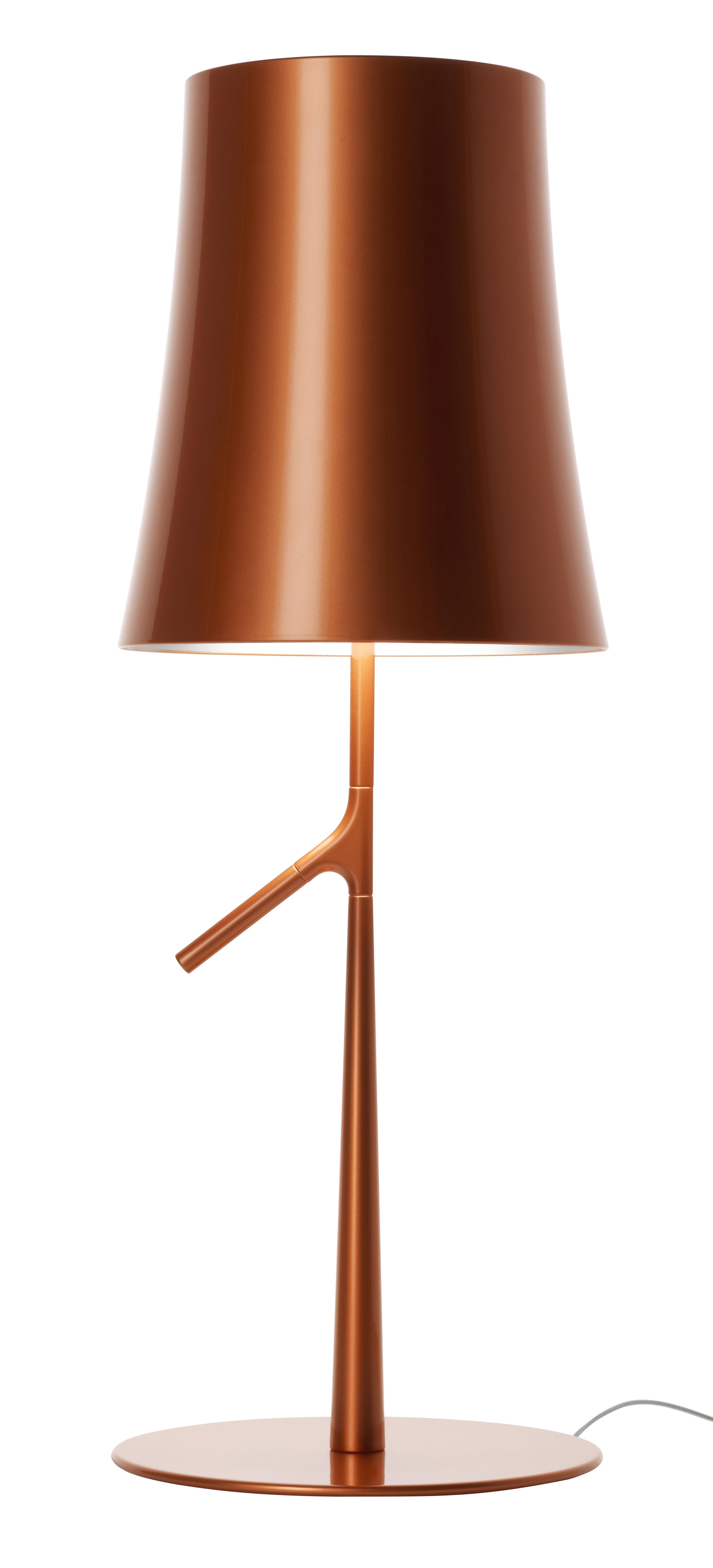 Luminaire - Lampes de table - Lampe de table Birdie Grande / LED - H 70 cm - Foscarini - Cuivre - Acier, Alliange de zinc, Polycarbonate métallisé