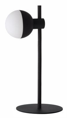Lampe de table Fabian / 1 spot - Métal & verre - Frandsen noir mat,blanc opalin en métal