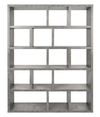 Arredamento - Scaffali e librerie - Libreria Rotterdam / L 150 x H 198 cm - Effetto cemento - POP UP HOME - Effetto cemento - Panneaux alvéolaires mélaminé