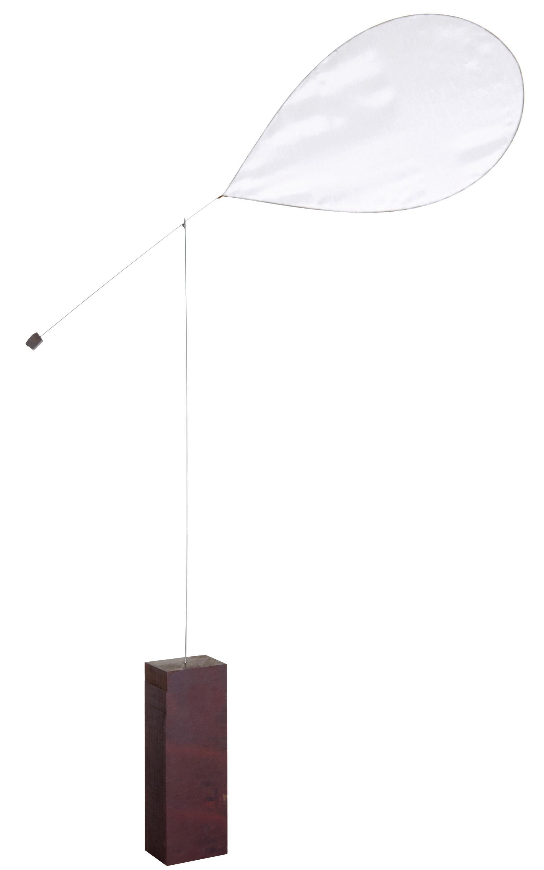 Interni - Oggetti déco - Mobile - monopala di L'atelier d'exercices - Telo bianco / base legno scuro - Corda da pianoforte, Seta