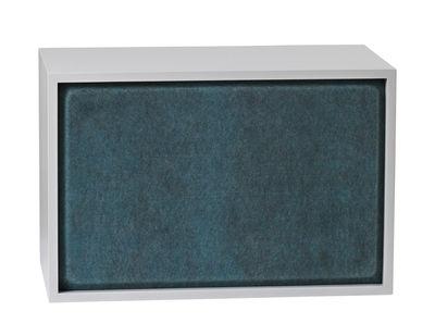Mobilier - Etagères & bibliothèques - Panneau acoustique / Pour étagère Stacked Large - 65x43 cm - Muuto - Bleu aqua - Feutre pressé