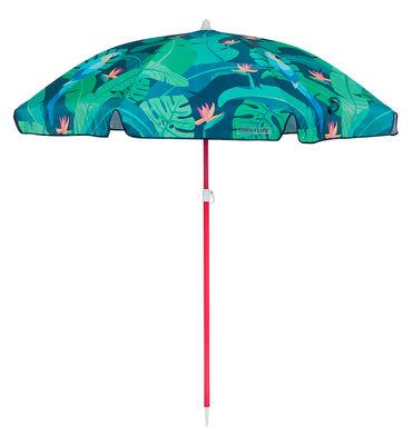 Outdoor - Parasols - Parasol Monteverde / Ø 170 cm - Sunnylife - Monteverde / Tons verts - Acier laqué époxy, Polyester