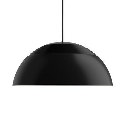 Lighting - Pendant Lighting - AJ Royal LED Pendant - (1957) / Large - Ø 50 cm by Louis Poulsen - Black - Lacquered aluminium, Lacquered steel