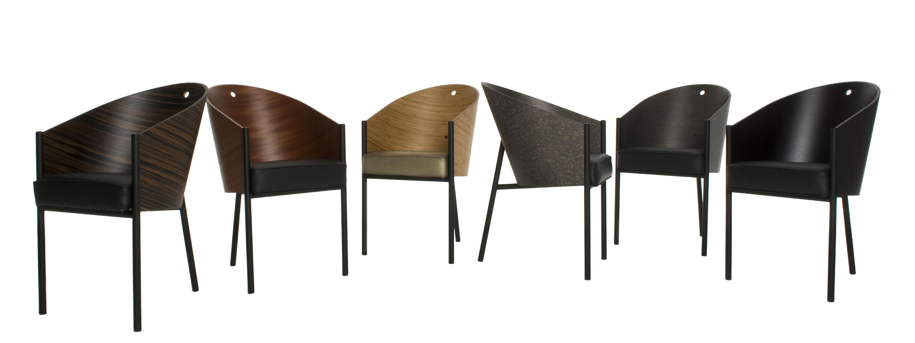 Arredamento - Poltrone design  - Poltrona Costes di Driade - Bambù / Gambe nere - Acciaio verniciato, Bambù