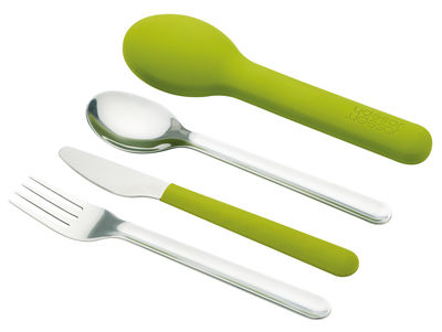 Tableware - Cutlery - GoEat Set - Cutlery set to go by Joseph Joseph - Green - Stainless steel