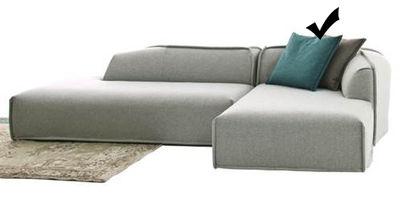 Möbel - Sofas - M.A.S.S.A.S. Sofa / mit Armlehne rechts - L 162 cm - Moroso - Hellgrau / Modul mit Armlehne rechts - L 162 cm - Holz, Kvadrat-Gewebe, Polypropylen, Polyurethan-Schaum