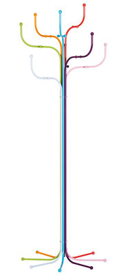Furniture - Coat Racks & Pegs - Coat Tree Standing coat rack - Coat hanger by Fritz Hansen - Multicoloured - Varnished steel