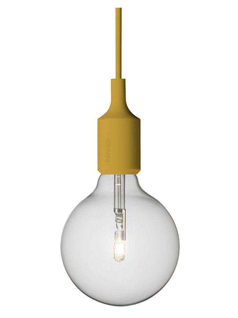 Luminaire - Suspensions - Suspension E27 - Muuto - Jaune moutarde - Silicone