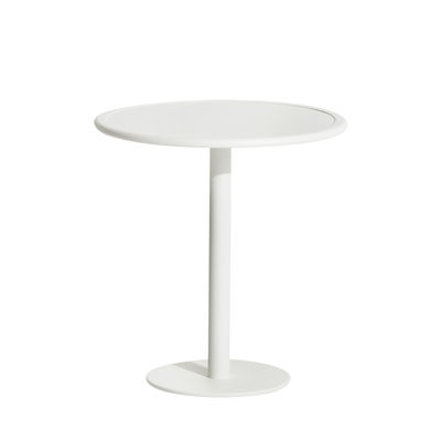 Table ronde Week-End / Bistrot - Aluminium - Ø 70 cm - Petite Friture blanc en métal