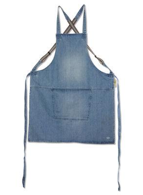 Tablier denim / Bretelles croisées - Dutchdeluxes bleu clair en tissu
