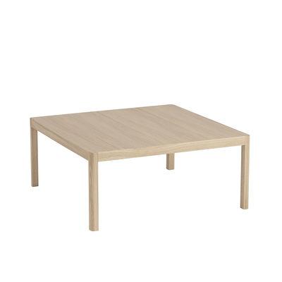 Arredamento - Tavolini  - Tavolino Workshop - / Rovere - 86 x 86 cm di Muuto - Rovere naturale - Impiallacciatura di rovere, Rovere massello