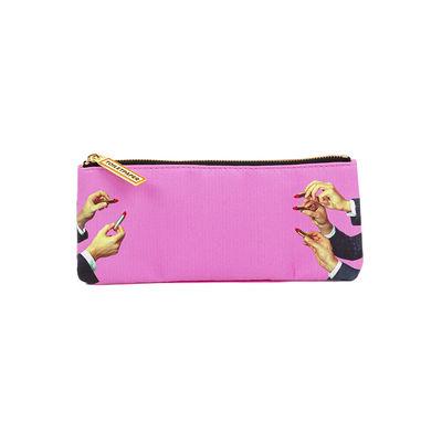 Accessori - Borse, Valigie e Portafogli - Trousse Toiletpaper - / Lipsticks pink - Tessuto di Seletti - Lipsticks pink - Poliestere, Poliuretano