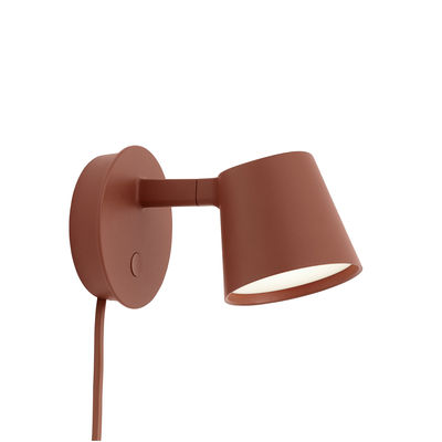Lighting - Wall Lights - Tip LED Wall light with plug - / Adjustable - Dimmer by Muuto - Copper brown - Aluminium