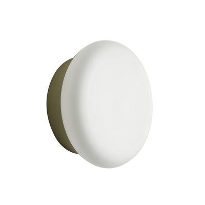 Illuminazione - Lampade da parete - Applique Colonna - / Vetro & acciaio - Ø 25 cm di ENOstudio - Champagne / Blanc - Acciaio, vetro soffiato