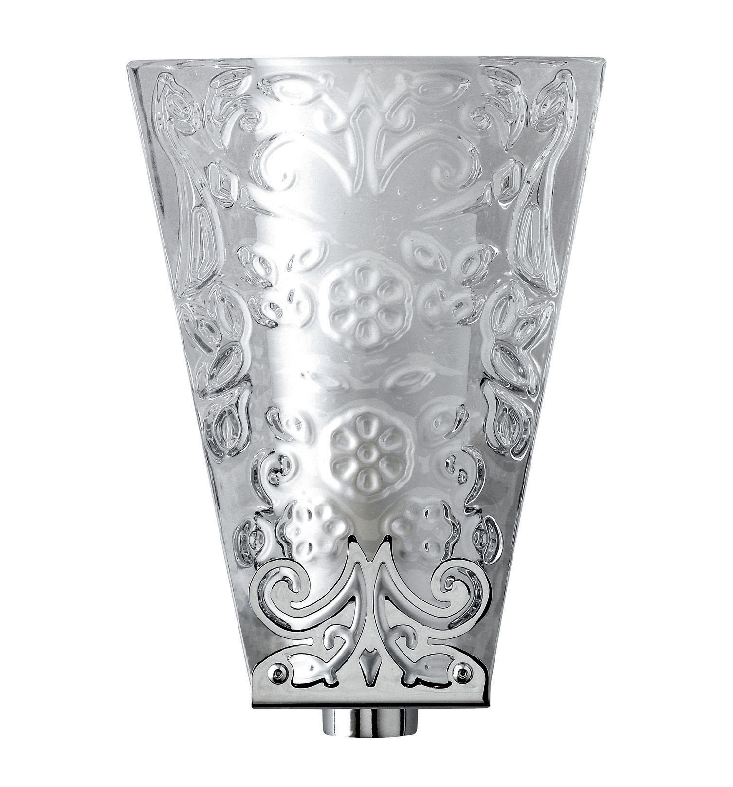 Illuminazione - Lampade da parete - Applique Vicky di Fabbian - Vetro trasparente /decori in rilievo - Metallo cromato, Vetro