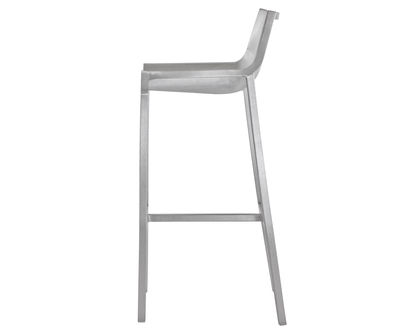 Furniture - Bar Stools - Sezz Bar chair - H 76 cm - Aluminium by Emeco - Brushed aluminium - Brushed aluminium