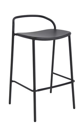 Furniture - Bar Stools - Zahir Bar chair - / H 75 cm - Metal by Emu - Old iron - Varnished steel