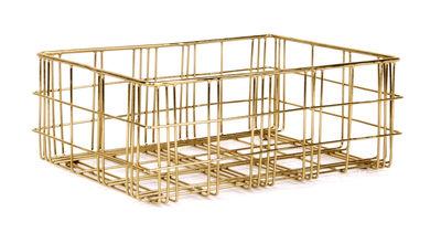 Decoration - Boxes & Baskets - Harri Basket - 31,5 x 23 cm by XL Boom - Brass / Small - Powder steel